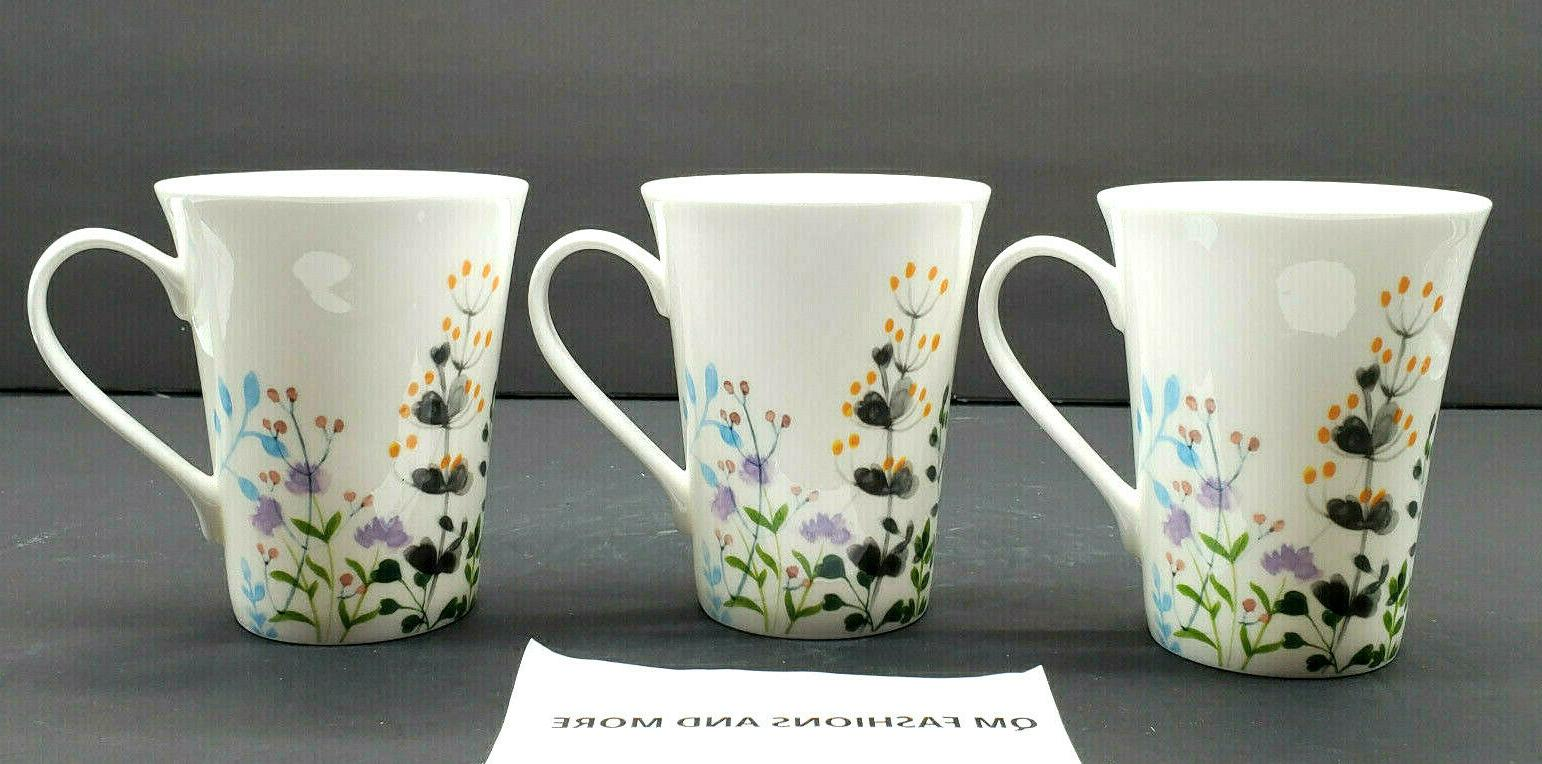 ~ Garden Set 3 Mugs NWT