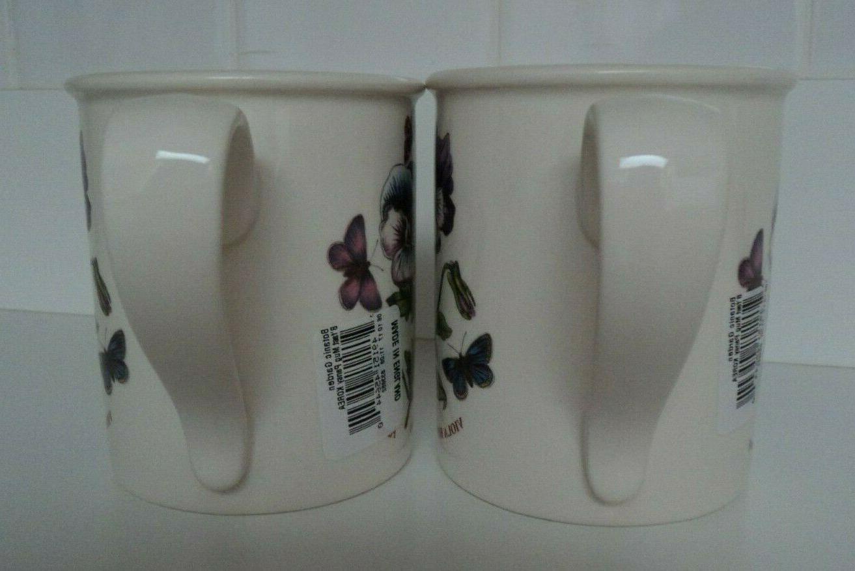 Portmeirion -Botanic Breakfast Mug- Pansy- Cup- SET OF 2- NWT!