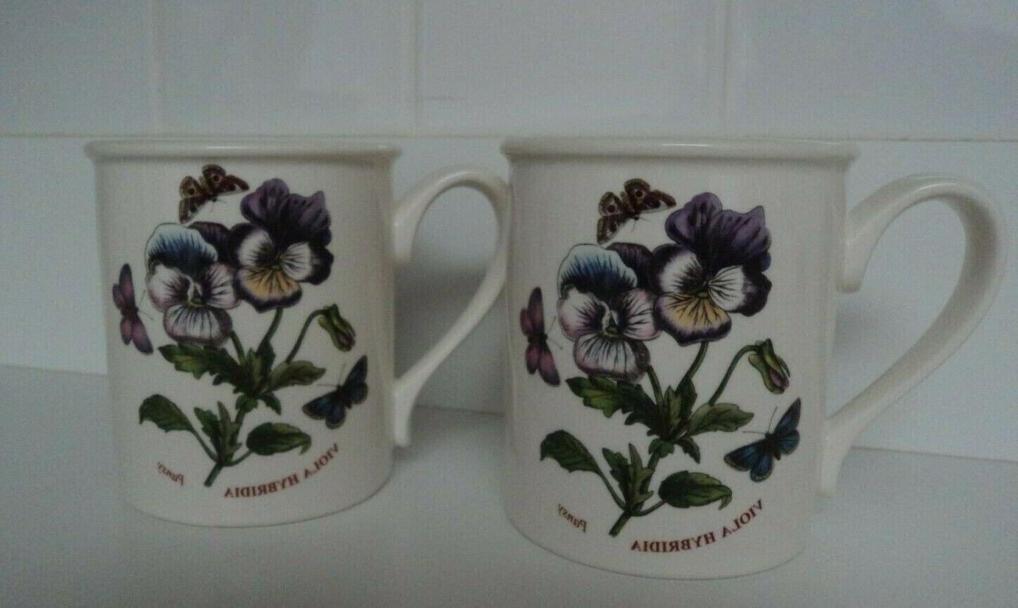 botanic garden breakfast mug pansy coffee tea