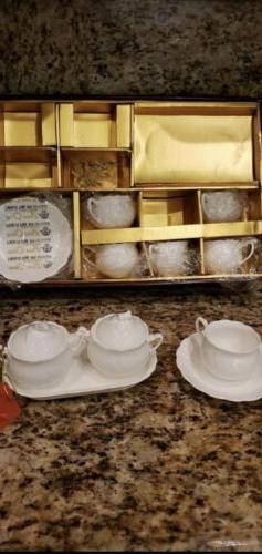 Brand New Haeng Nam Bone China Tea Set