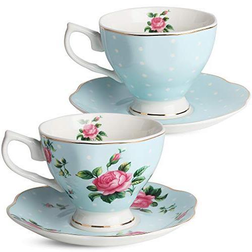 BTäT- Tea Set, Tea , Tea Pot , Sugar Set, Gift box, Sets for Cups and Tea 4 Tea Cups Porcelain Tea