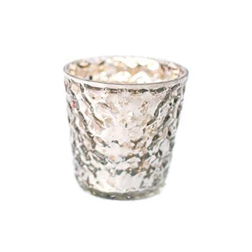 bubble mercury glass silver tea