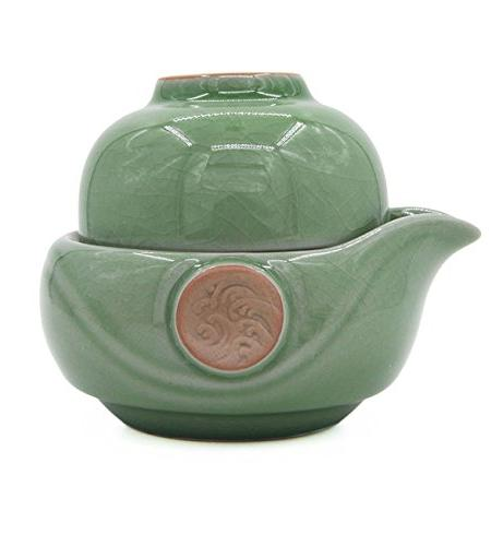 celadon pumpkin portable gongfu tea