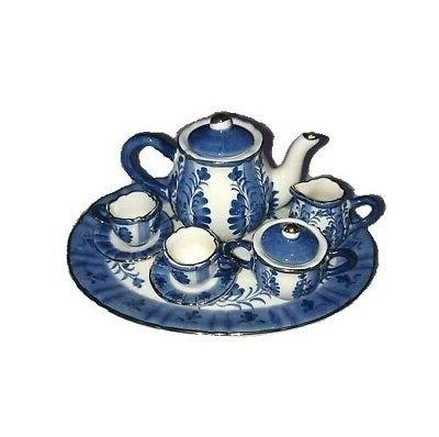 ceramic miniature tea set