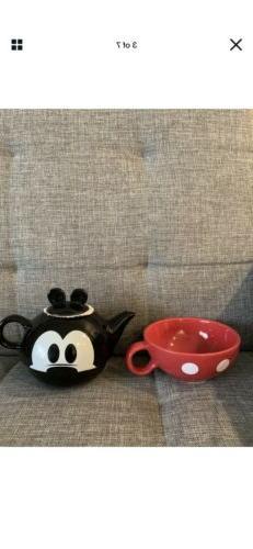 Disney Ceramic Stackable Mickey Mouse Tea Pot