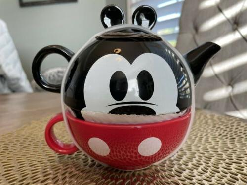 ceramic stackable mickey mouse tea teapot pot
