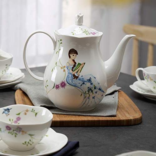 Ceramic including pcs Cup and 1 for Home and Coffee )