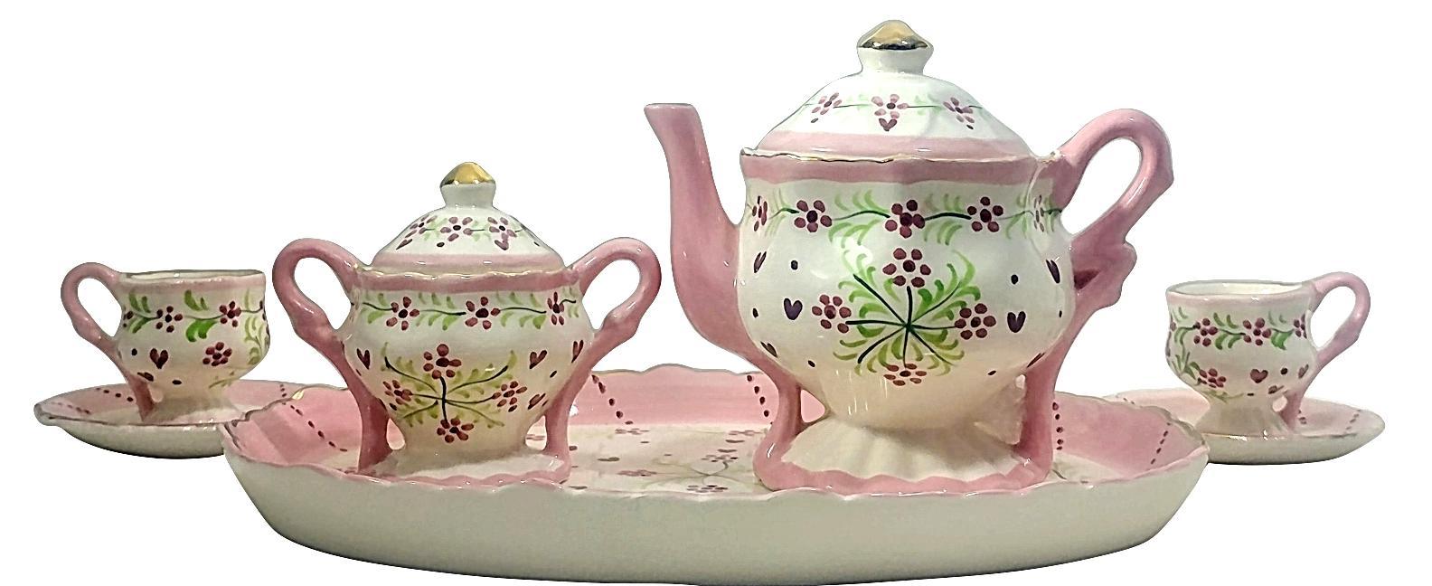 children s miniature tea set 9 piece