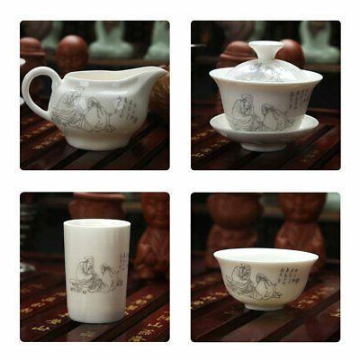 Chinese Ceramic Kung Tea Tea Tray And Small Tea