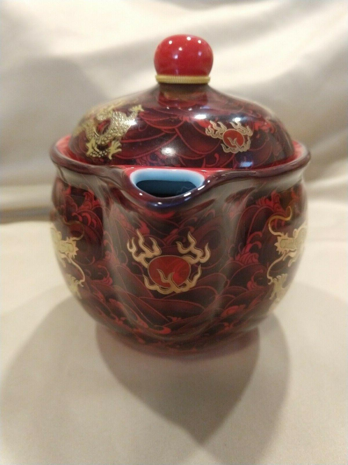 Chinese Dragon porcelain Shunlong teapot 6 cups