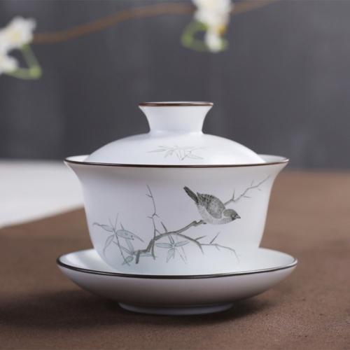 XDOBO Chinese Hand-painted Ceramic Gongfu Teacup - Gaiwan Te