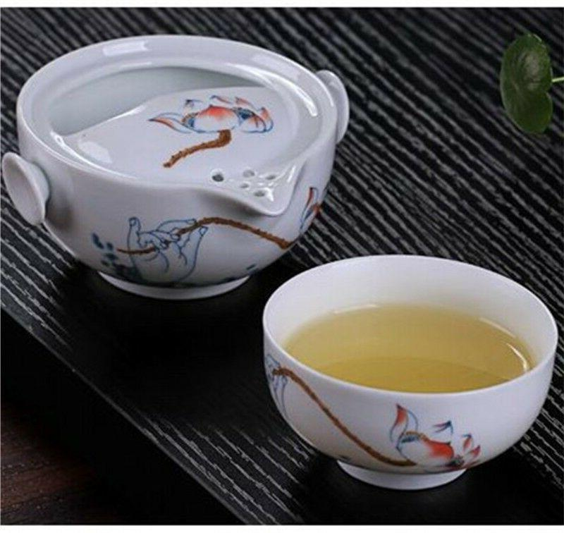 Chinese Ceramic Tea Gaiwan Teapot Cup