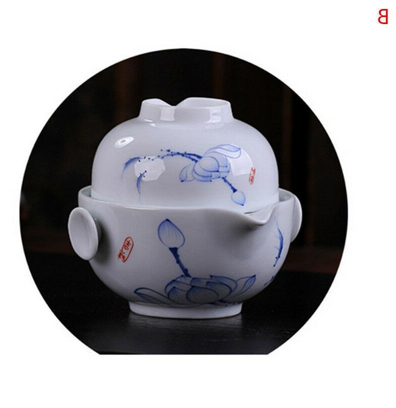 Chinese Ceramic Gaiwan Teapot Tea Cup
