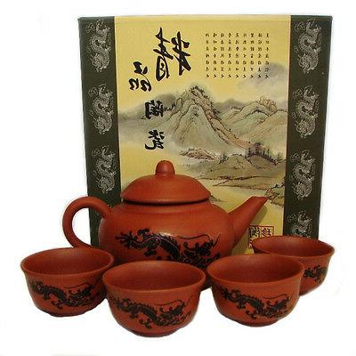 5PCS Oriental Chinese Traditional GongFu Tea Set  Original C