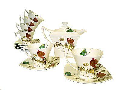 chun hao tea set butterfly on bloom