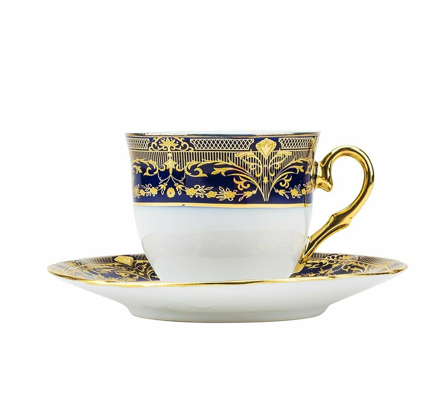 Euro 12-pc Cup for Blue 24K Gold