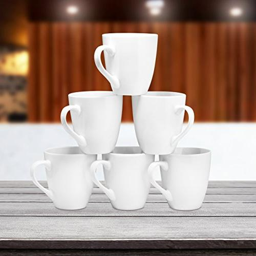 Coffee Mug of 6 Large-sized 16 Ounce Mugs Restaurant Coffee By Bruntmor