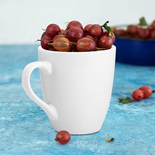 Coffee Mug Set Set of 6 Large-sized Ounce Ceramic Mugs Restaurant Coffee Mugs Bruntmor