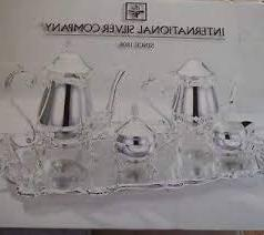 "INTERNATIONAL SILVER COFFEE & TEA 6 PIECE SET. WITH 22"" FOOT"