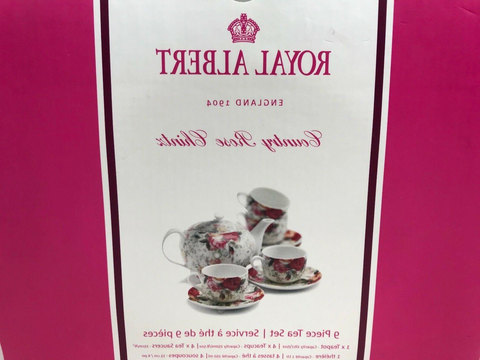 Royal Albert COUNTRY CHINTZ TEA 4 Cups Saucers