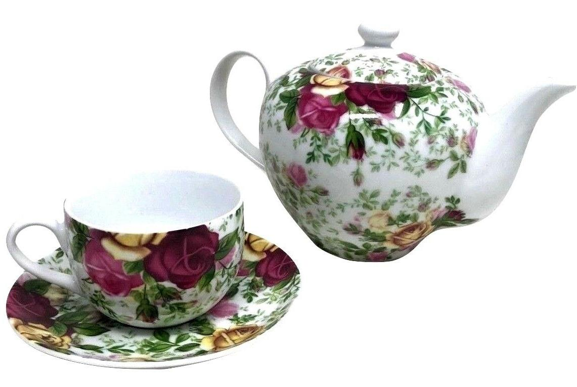 Royal Albert COUNTRY CHINTZ TEA SET 4 3