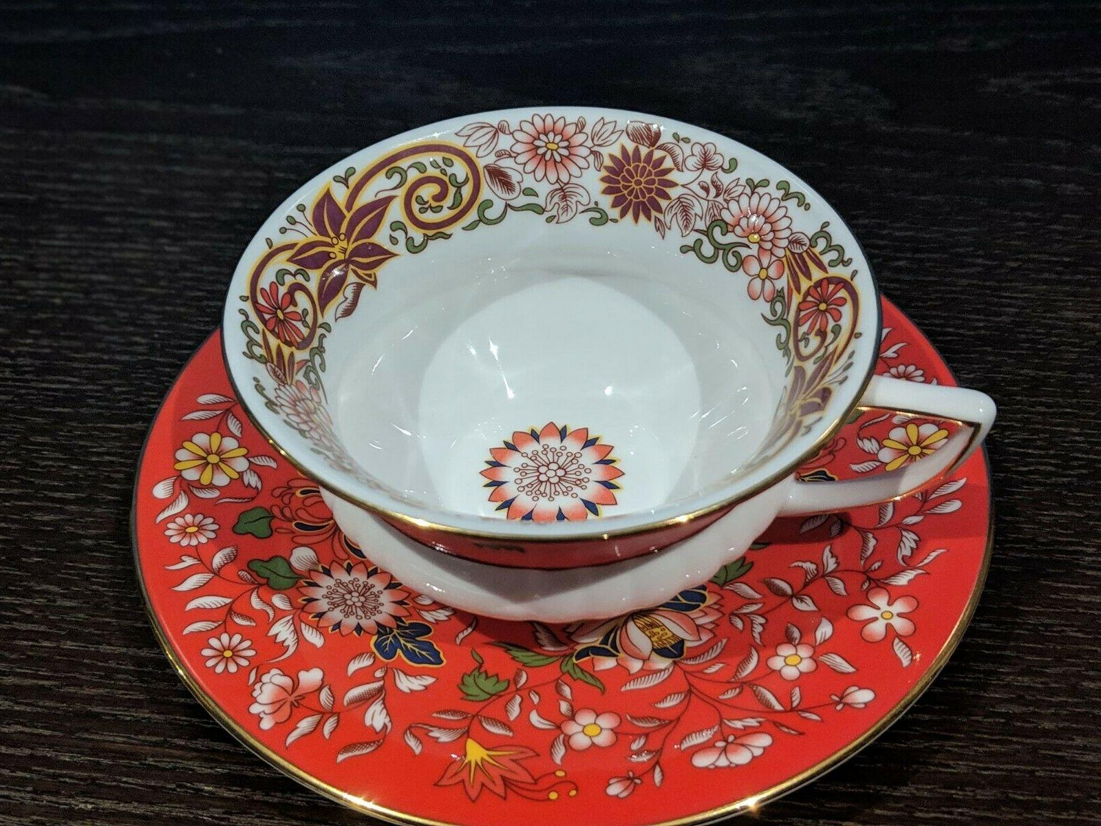 Wedgwood CRIMSON Cup and Saucer -