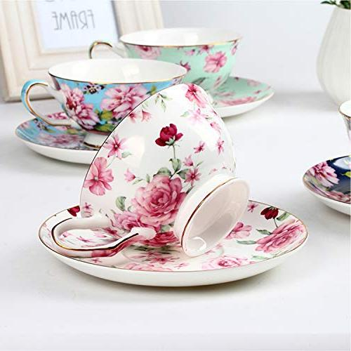 BTäT- Tea Cups of Tea Floral Tea , Tea Set, Set, Tea for Teacups, China