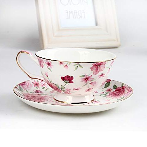 BTäT- Cups of 4, Tea Set, Floral Tea Cups Saucers Set, Tea Tea Cups, Tea for Teacups, Tea
