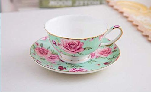 BTäT- Cups Set of 4, Tea Floral Cups , Tea Set, Tea Porcelain Tea Cups for Tea Teacups, China Tea