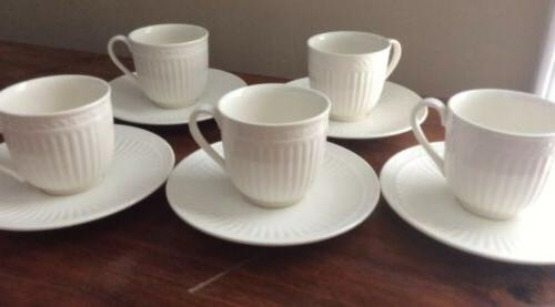 Mikasa Cups And Saucers Set Of 5 Coffee Tea Mug Cup Italian