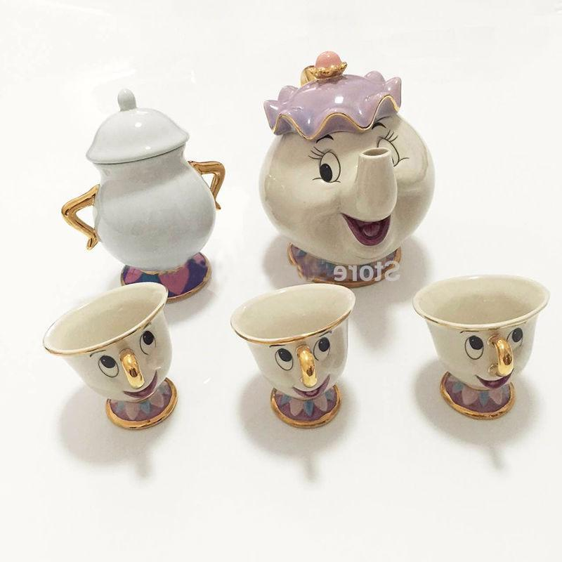 Cute Cartoon The Beast <font><b>Set</b></font> Mug Potts Chip One <font><b>Set</b></font> for Gift