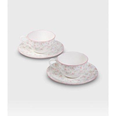 cutie rose tea cup saucer
