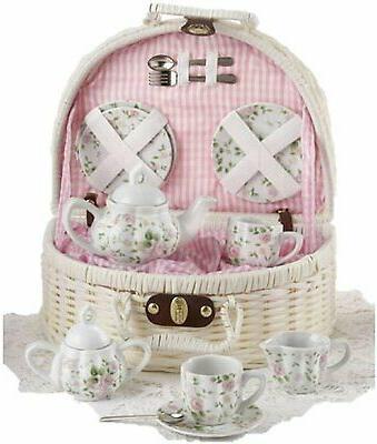 delton products pink chintz children s tea