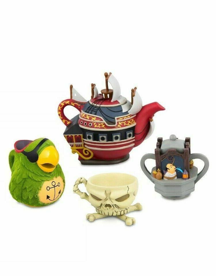 disney parks pirates mini tea set