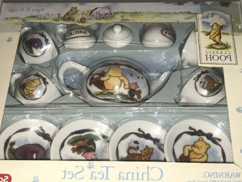 SCHYLLING DISNEY POOH CLASSIC CHINA TEA SET NEW IN NIB
