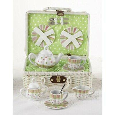 dollies tea set basket