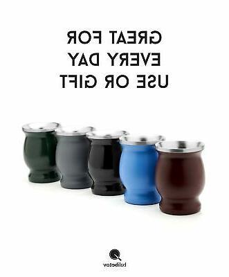 BALIBETOV Wall Steel Mate Set Modern Mate Cup ...