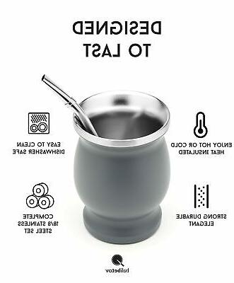 BALIBETOV Stainless Steel Yerba Set - Cup