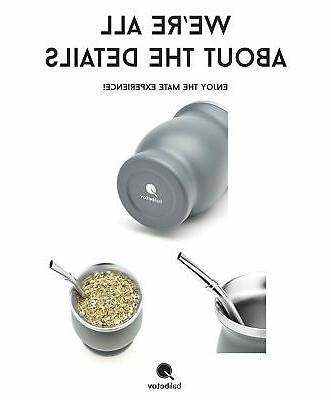 BALIBETOV Double Wall Steel Yerba Set Modern Cup ...