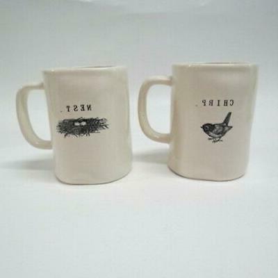 e 2 coffee tea mugs rare chirp