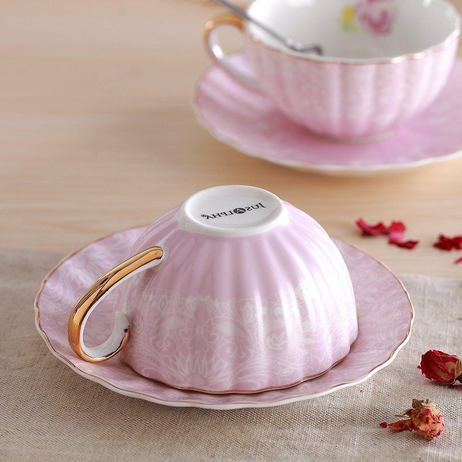 Jusalpha® Tea with and Spoon Set- Coffee TCS04