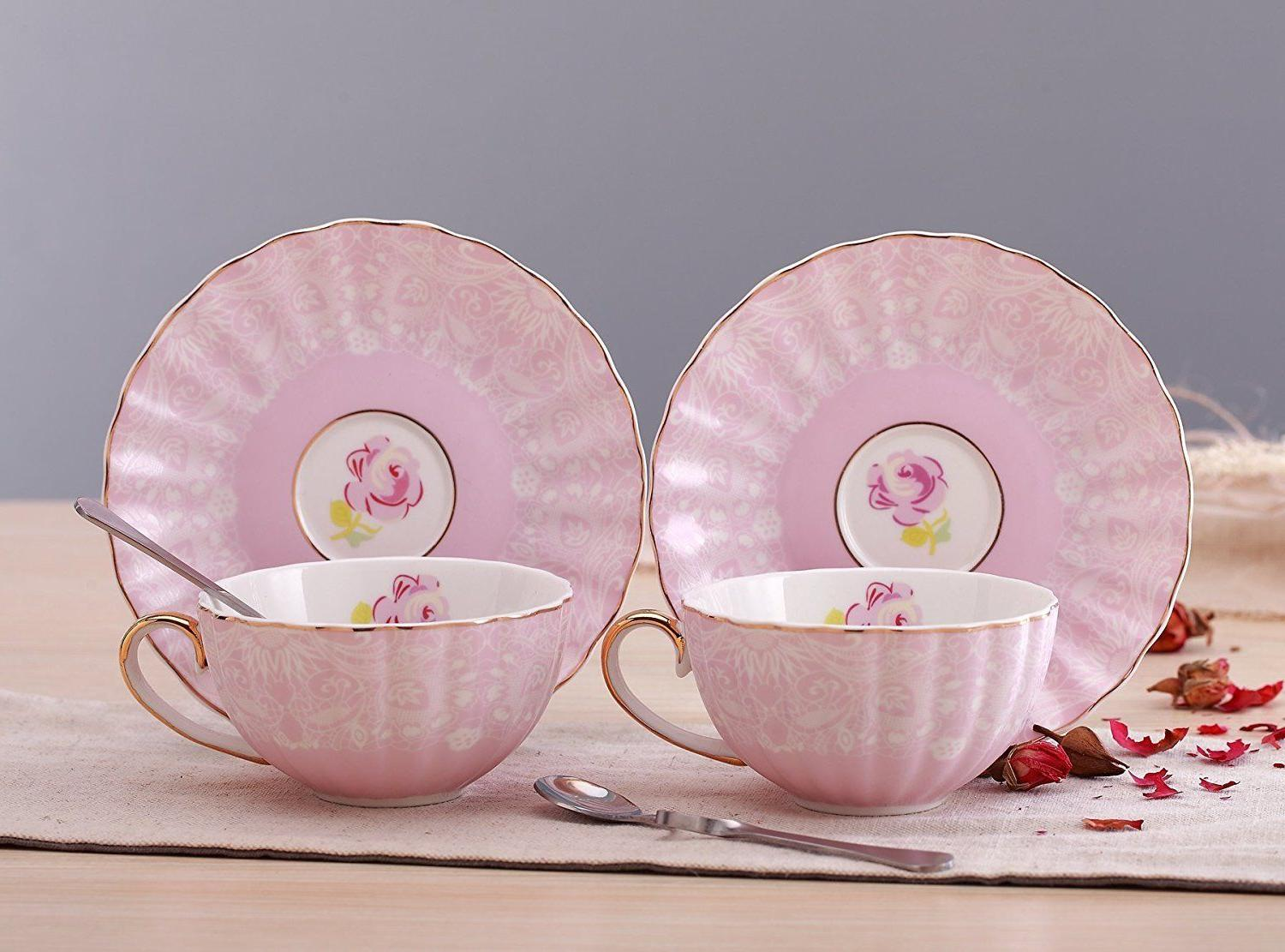 Jusalpha® with Saucer and Spoon Set- Coffee TCS04