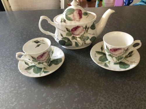 fine bone china redoule roses tea set