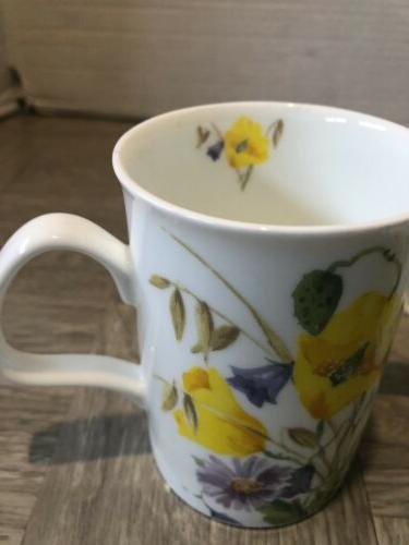 Roy Kirkham China Tea Mugs Floral Set Of