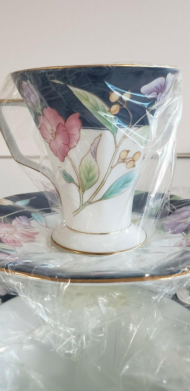Fine China Spring Flowers 7oz 4 cups 4 Royal New