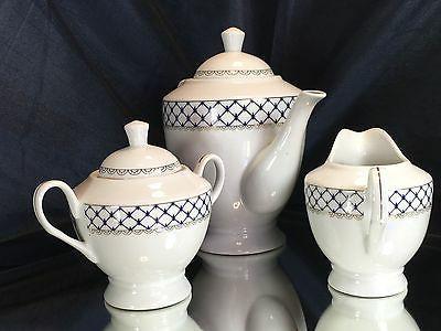 Fine Porcelain Set Cobalt Net Lomonosov