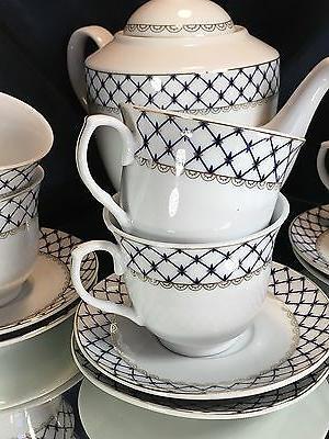 Fine Porcelain Tea Set 15 pc Net Lomonosov