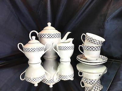Fine Coffee Tea Set Cobalt Net