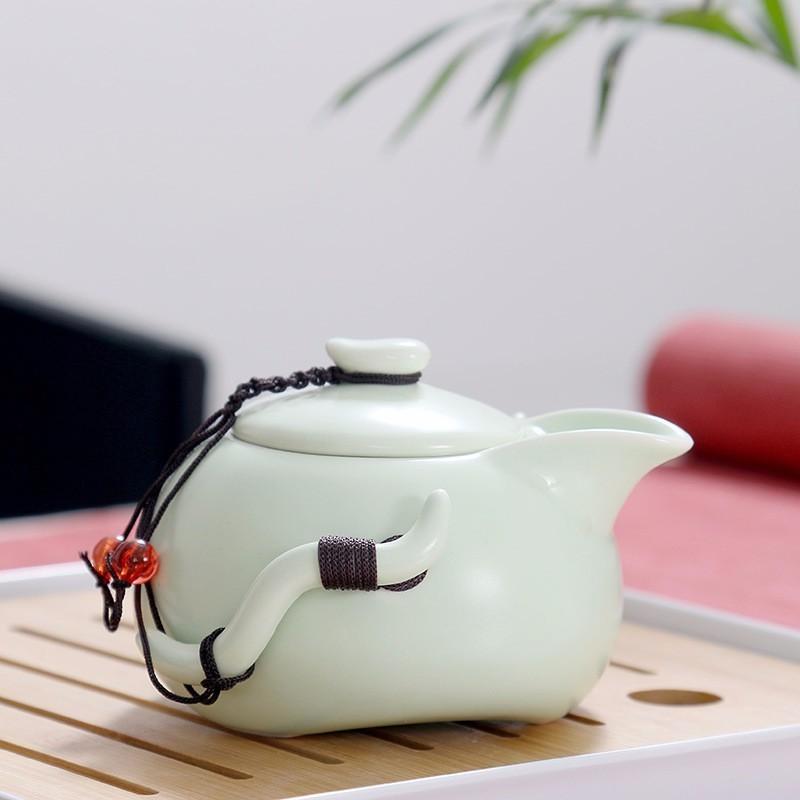 <font><b>Chinese</b></font> Travel Kung <font><b>Tea</b></font> Ceramic Teapot Teaset Gaiwan <font><b>Tea</b></font> Ceremony Travel Bag