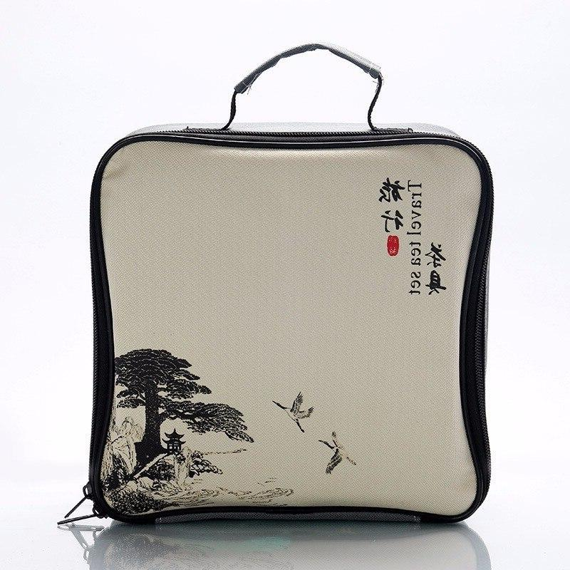 <font><b>Chinese</b></font> Travel Kung Fu <font><b>Tea</b></font> <font><b>Set</b></font> Ceramic Teapot <font><b>Tea</b></font> Cups of Ceremony With Travel Bag